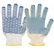 Перчатки х/б 5-нитки с ПВХ «Точка», «Волна» 10кл